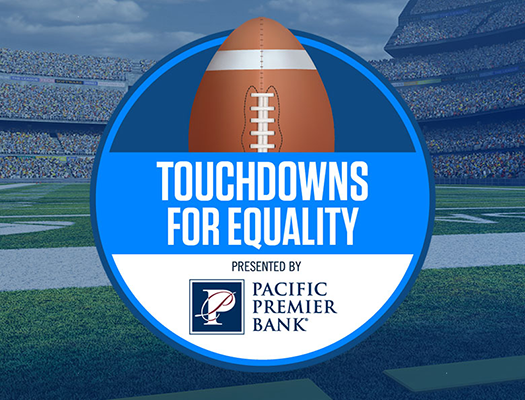 Image of Pac-12 Touchdowns for Equality, Presented by Pacific Premier Bank